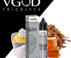น้ำยาบุหรี่ไฟฟ้าPod VGOD Cubano Silver SaltNic